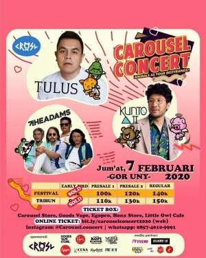 Carousel Concert: TULUS x KUNTO AJI x THE ADAMS