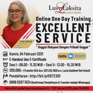 Lusy Laksita Online One Day Training - Excellent Service