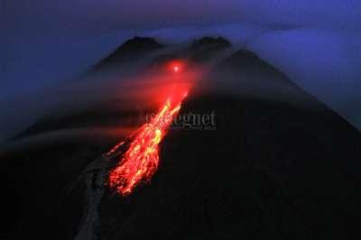 Lava Pijar Gunung Merapi 2021