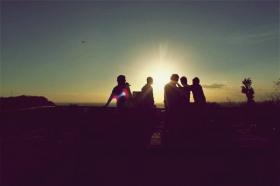Pemandangan sunset menjadi daya tarik di Candi Ratu Boko