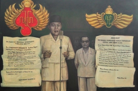 Ilustrasi saat Sri Sultan HB IX mengeluarkan pernyataan mendukung Proklamasi