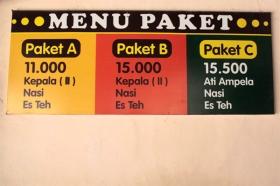 Salah satu menu