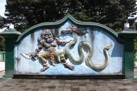 lukisan pertarungan naga