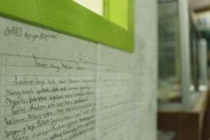 Karangan/cerita yang ditulis anak-anak