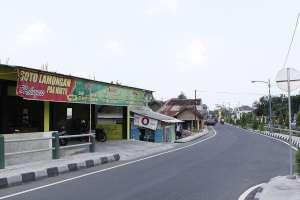 Lokasi warung soto Pak Narto di jembatan Kalibuntung