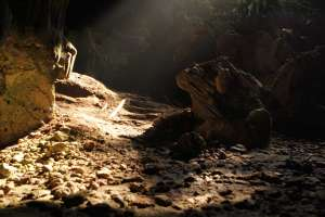 Batuan yang ada di goa Gajah
