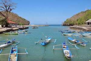 Kapal-kapal nelayan di Pantai Sadeng, Yogyakarta