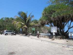 Tempat parkir di pantai Siung, Yogyakarta
