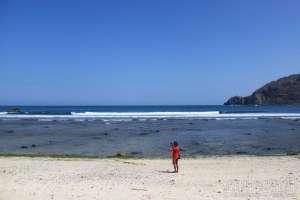 Lanskap di pantai Wediombo, Yogyakarta
