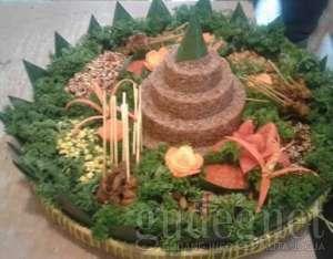 Menu Loving Hut - Tumpeng Nasi Merah Organic