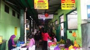 Bagian pintu masuk Pasar Patuk