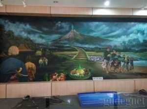 Salah satu koleksi di museum Gunungapi Merapi
