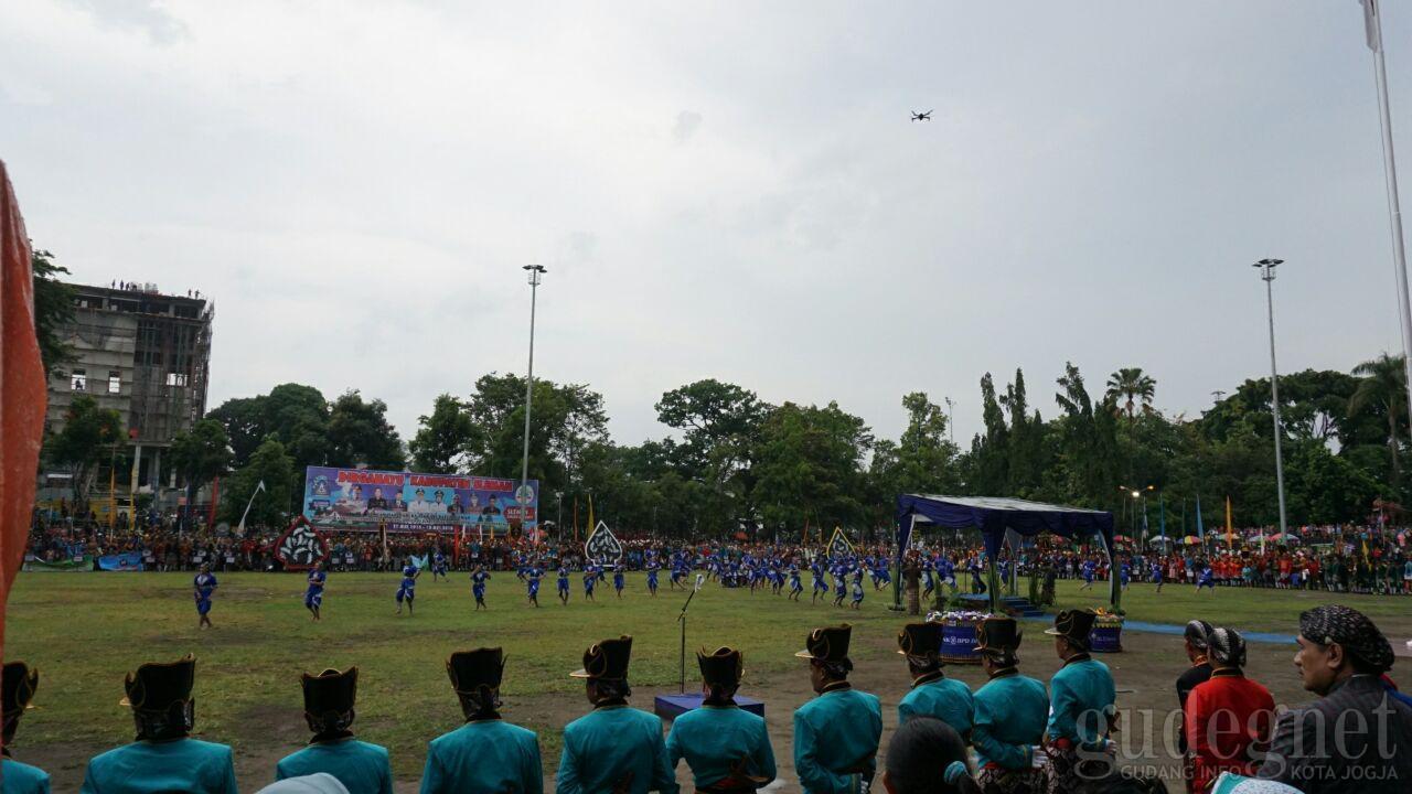 67 Bregada Sleman Ikuti Upacara Perayaan HUT Sleman Ke-102