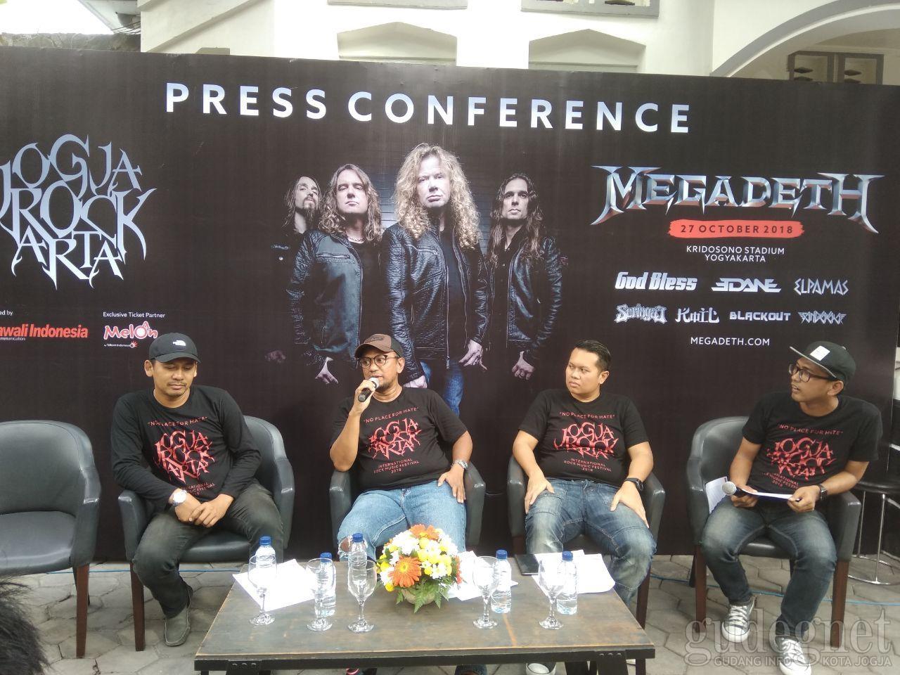 Megadeth Siap Beraksi di Panggung Jogjarockarta