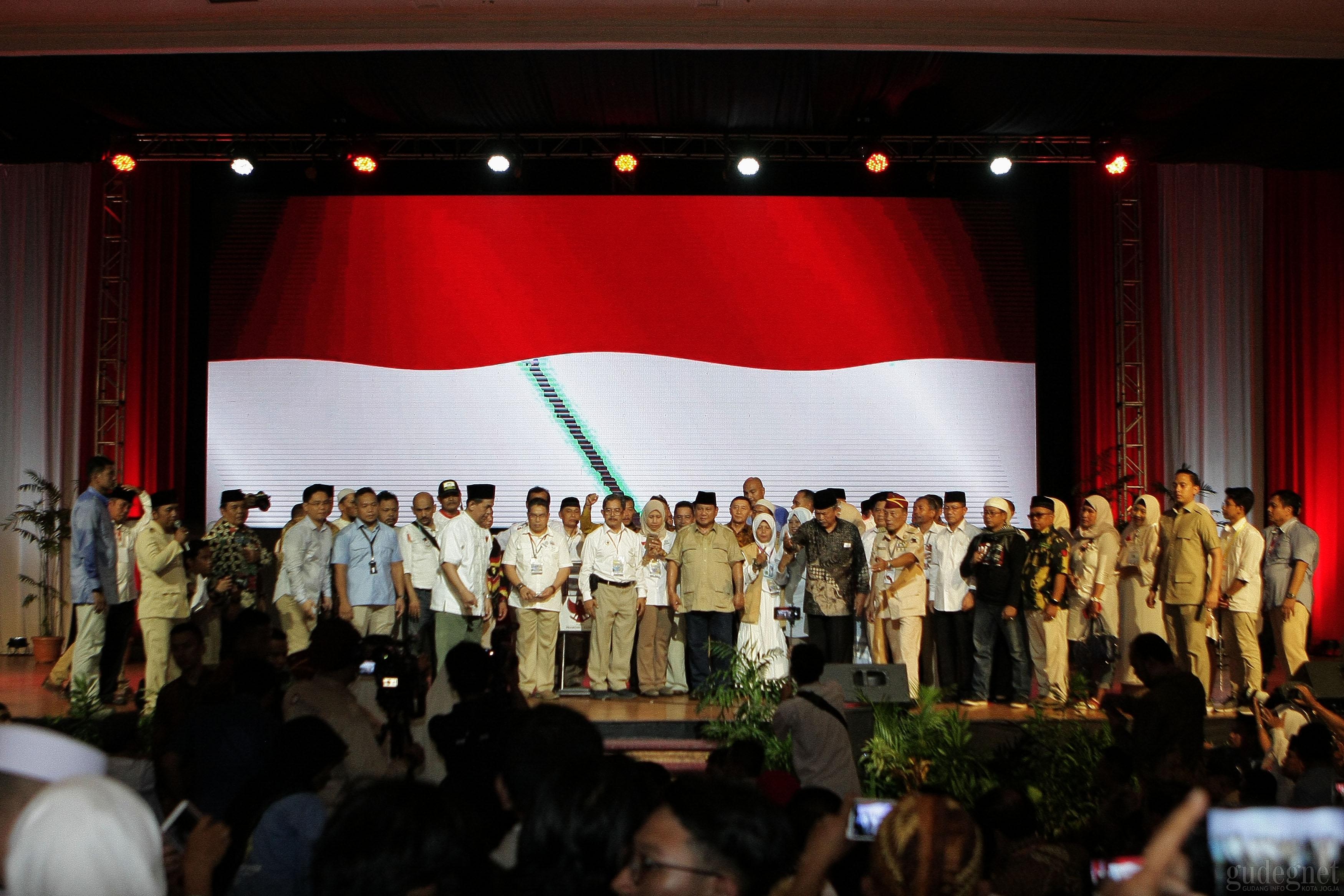 Purnawirawan TNI POLRI Jateng DIY Deklarasi Dukungan Prabowo