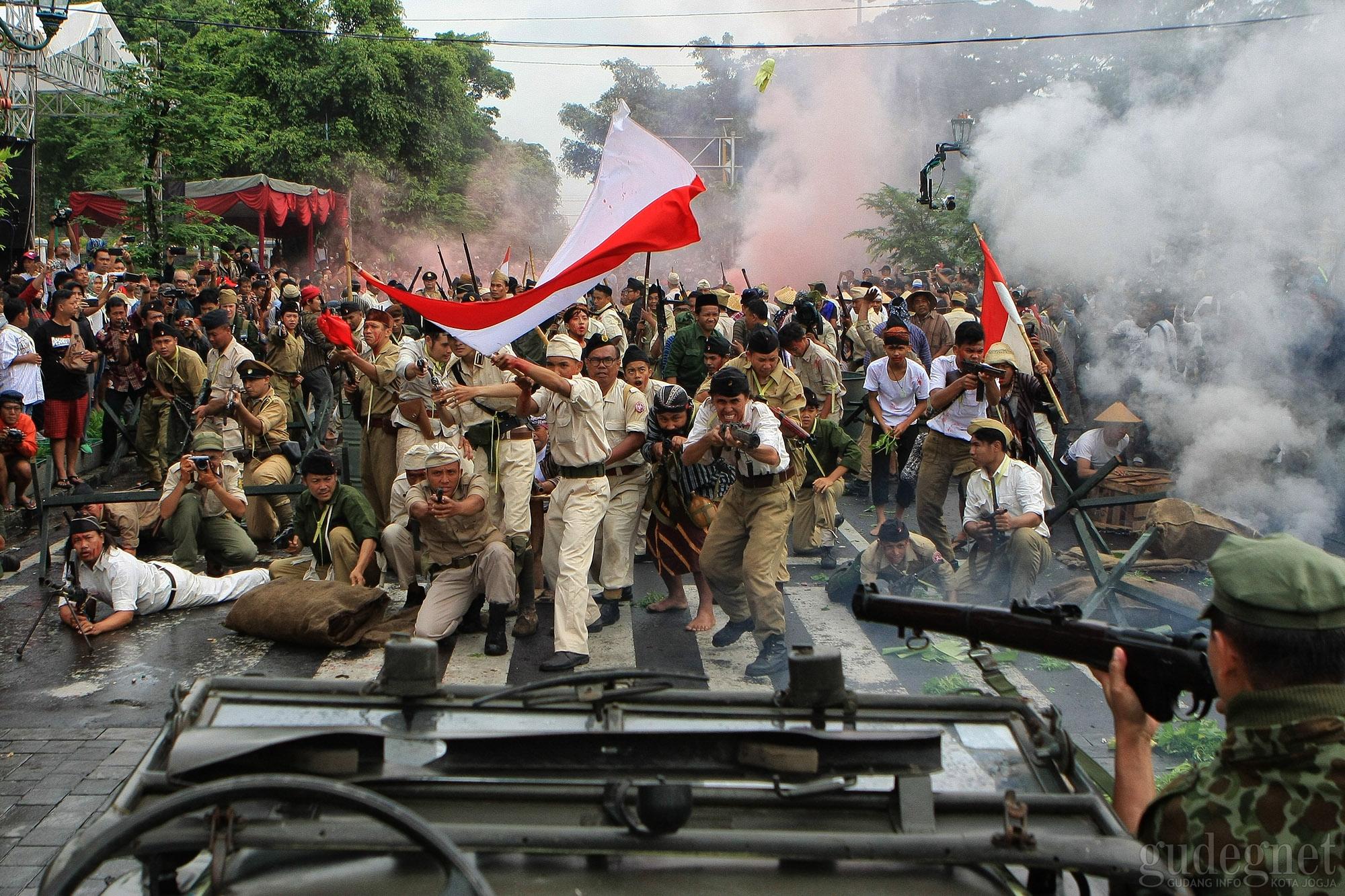 Perang Pecah di Persimpangan Titik Nol Yogyakarta