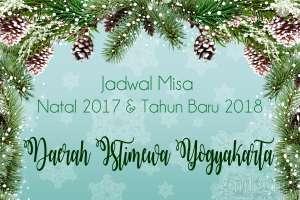 Jadwal Misa Natal 2017 dan Tahun Baru 2018 se-DIY