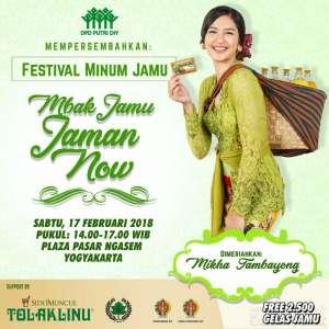Mikha Tambayong Bakal Meriahkan Festival Minum Jamu