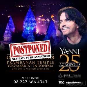 Yanni Alami Kecelakaan, Konser Terpaksa Ditunda