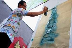 Aksi Mural Wawali Yogyakarta di Youngyakarta Fest 2018