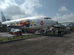 Jogja Airport Resto, Sensasi Makan di Dalam Pesawat