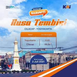 KAI Daop 6 Yogyakarta Luncurkan KA Nusa Tembini Relasi Yogyakarta-Cilacap
