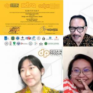 Mahasiswa Desain Produk UKDW Raih Indonesia Industrial Design Student Award 2021